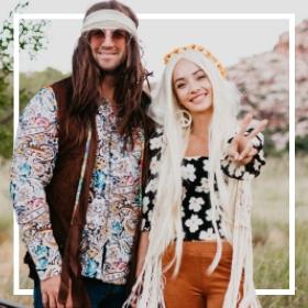 Compra online los disfraces Hippies de los años 60 más originales de Carnaval