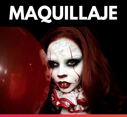 Heridas de Halloween y maquillaje de miedo