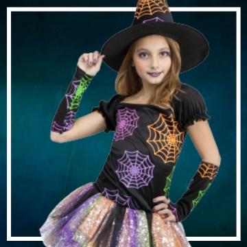 Compra online los disfraces de niña para convertirse en Bruja