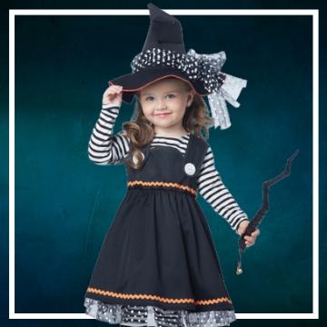Compra online los disfraces Halloween de brujas bebé
