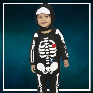 Compra online los disfraces Halloween de esqueleto bebé