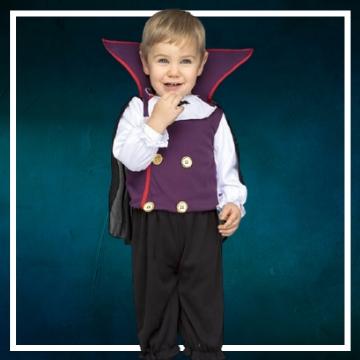 Compra online los disfraces Halloween de vampiro bebé