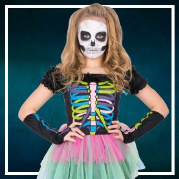 Compra online los disfraces de niña para convertirse en Catrina