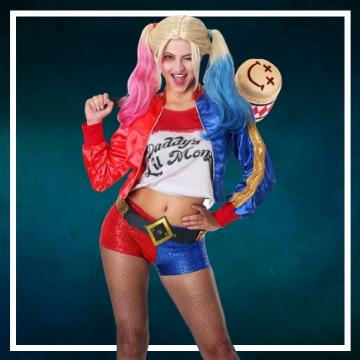 Compra online los trajes Halloween de Harley Quinn