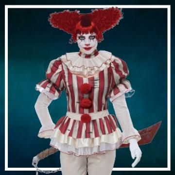 Compra online los trajes Halloween de payasas diabólicas
