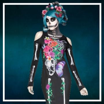 Compra online los disfraces de mujer para convertirte en calavera