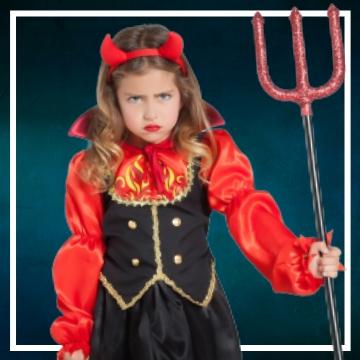 Compra online los disfraces Halloween de diablesas infantiles