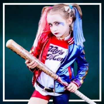Compra online los disfraces Halloween de Harley Quinn infantiles