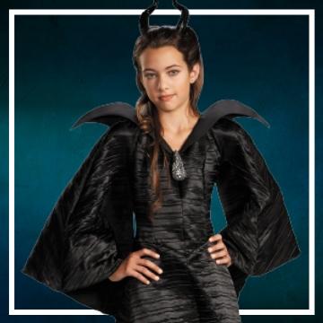 Compra online los disfraces Halloween de villana maléfica infantiles