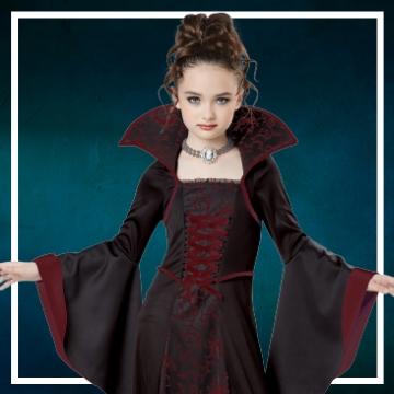 Compra online los disfraces Halloween de vampiresas infantiles