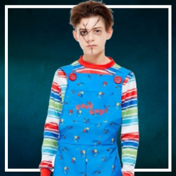 Compra online los disfraces Halloween de Chucky infantiles