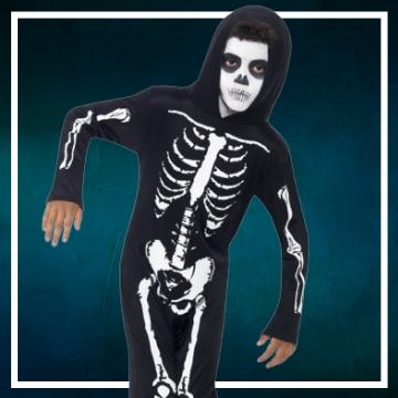 Compra online los disfraces Halloween de esqueletos infantiles