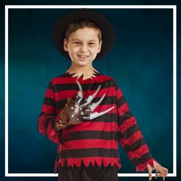 Compra online los disfraces Halloween de Freddy Krueger infantiles