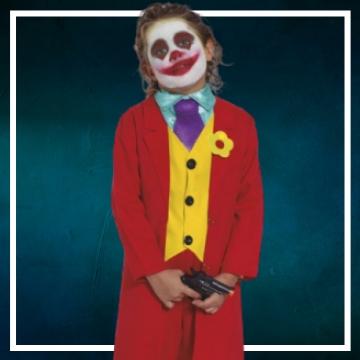 Compra online los disfraces Halloween de Joker infantiles