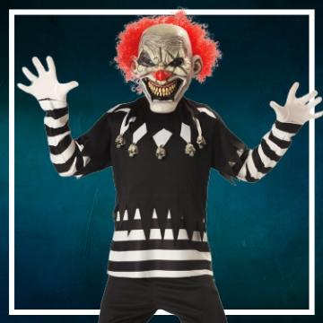 Compra online los disfraces Halloween de payasos asesinos infantiles