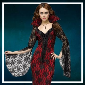 Compra online los disfraces de mujer para convertirte en vampiresa