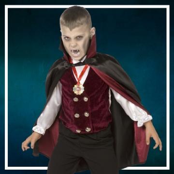 Compra online los disfraces de niño para convertirse en Drácula