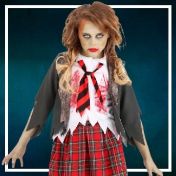 Compra online los disfraces de niña para convertirse en muerta viviente
