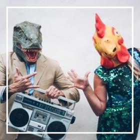 Caretas de animales para Carnaval y Halloween