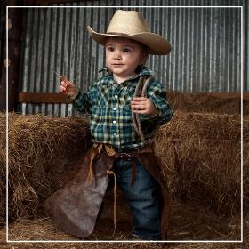 Compra online los disfraces de vaqueros para bebés más originales