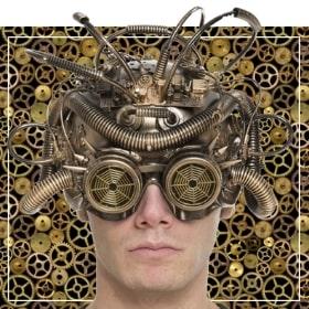 Accesorios steampunk de disfraz