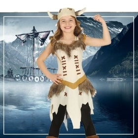 Disfraces vikingas de niña