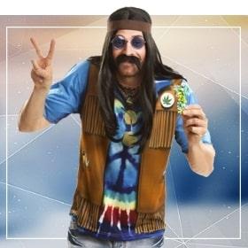 Disfraces hippies para fiestas temáticas