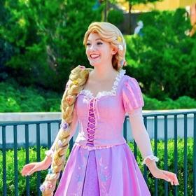 Disfraz de Rapunzel para niña y mujer