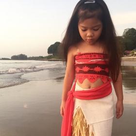 Disfraz de Vaiana para niña y mujer