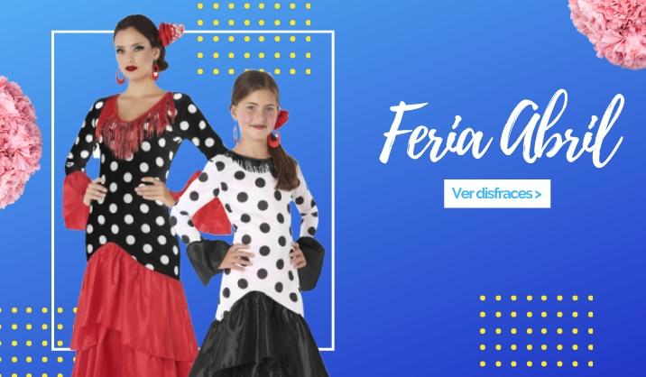 Disfraces de sevillana para niñas y mujeres al mejor precio