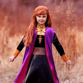Disfraz de Elsa y Anna Frozen para niña