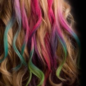 Tizas para tintar el pelo de todos los colores