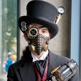 Máscaras de Steampunk para disfraz de Carnaval