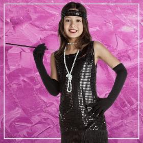 Catálogo de disfraces de Charlestón de niñas para Carnaval, Halloween y fiestas de disfraces