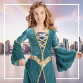 Disfraces de Edad Media niña para fiestas y Carnaval