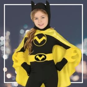 Disfraces de superheroínas niña para fiestas y Carnaval