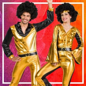Tienda online de disfraces en pareja de música disco