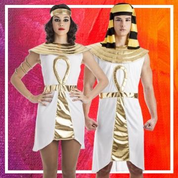 Tienda online de disfraces en pareja de egipcios
