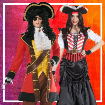 Tienda online de disfraces en pareja de piratas