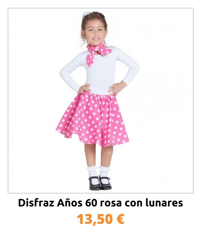 Compra el disfraz de los años 60 para niña