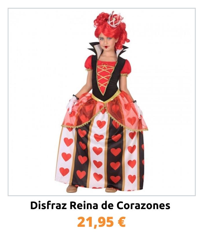 Compra el disfraz Reina de Corazones para niña