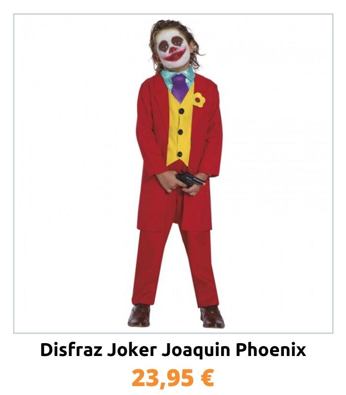 Compra el disfraz Joker Joaquin Phoenix para niño