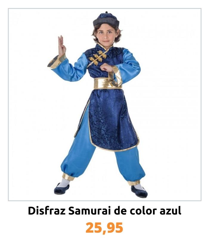 Compra el disfraz Samurái azul para niño