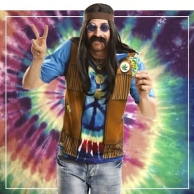 Disfraces hippies de hombre