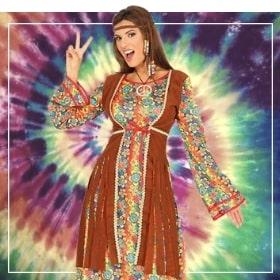 Disfraces hippies de mujer