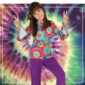 Disfraces hippies de niña