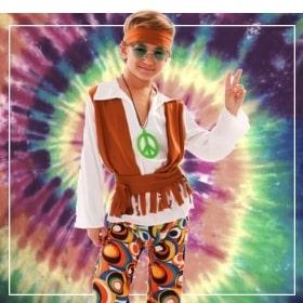 Disfraces hippies de niño