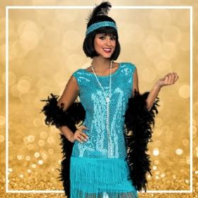Compra online disfraces charlestón para una fiesta de fin de año