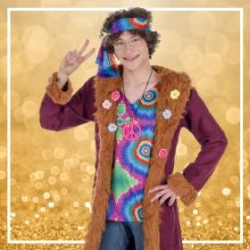 Compra online disfraces hippies para una fiesta de fin de año